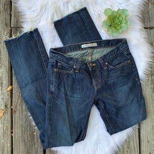 J Brand Distressed Hem Skinny Jeans Sz 25